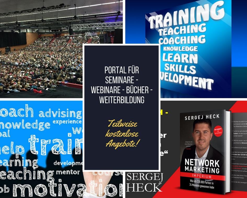 PortalfürSeminare - Webinare - Bücher - Weiterbildung